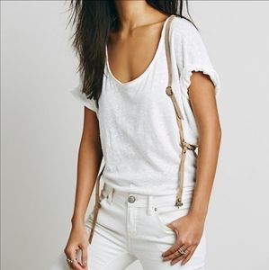 NEW Free People tan leather harness style belt